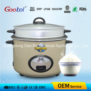 Full Body Straight Rice Cooker with Steamer Golden Colour pictures & photos