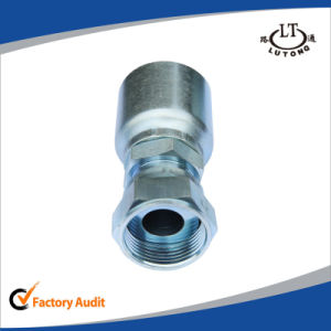 Chinese Manufacturer Germany Metric Female 24 Degree 90 Elbow Rubber Hose Pipe Fittings pictures & photos