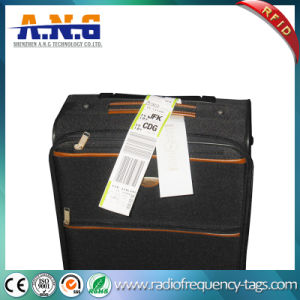 Self Adhesive UHF Thermal Airplane Baggage Tag RFID Luggage Label pictures & photos