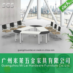 Smart Triangular Meeting Table with Metal Leg pictures & photos