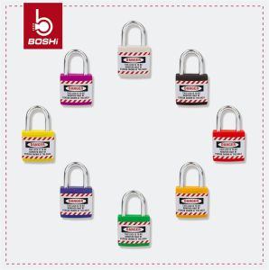 ABS Outside Metal Inside Jacket Safety Padlock (BD-J11) pictures & photos