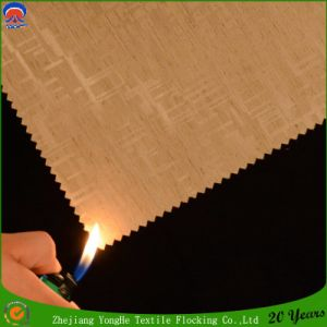 Woven Waterproof Flame Retardant Blackout Window Curtain Fabric for Hotel Use pictures & photos