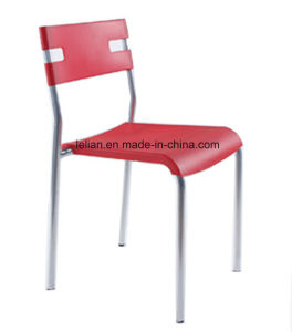 Plastic Metal Stack Chair, Restaurant Dining Chair (LL-0014A) pictures & photos