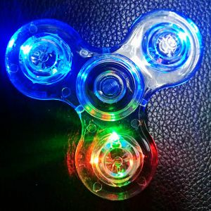 Adult Bearing Crystal Luminous Lighting LED Hand Fidget Toys Spinners pictures & photos