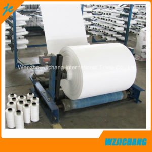 White Black White Tube Tubular PP Woven Fabric Roll of Laminated pictures & photos