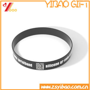 Custom Qr Code Silicone Wristband/RFID Wristband pictures & photos