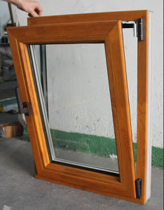 5mm Double Glazing Aluminum Wood Window
