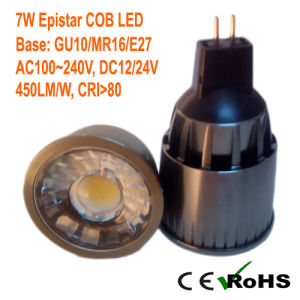 7W MR16/GU10 COB LED Ceiling Spotlight with Ce RoHS Approval pictures & photos
