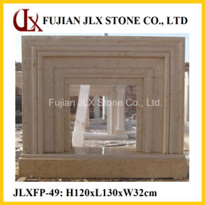 Beige Marble Modern Type Stone Home Decorative Fireplace pictures & photos