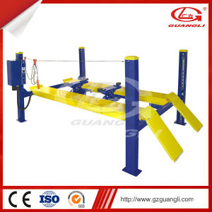 Guangli High Quality Four Post Design and Ce Certification Hydraulic Car Lift pictures & photos