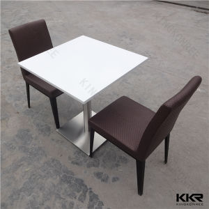 Restaurant Furniture Artificial Marble Solid Surface Top Dining Coffee Table pictures & photos