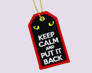 Embroidery Luggage Tag - Keep Calm pictures & photos