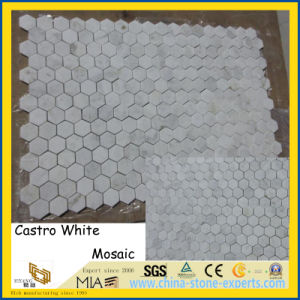 China Castro White Marble Mosaic Tiles for Home/Hotel Decoration pictures & photos