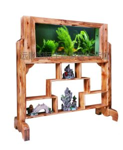 Acrylic Aquarium Into Log Screen, Log Screen Fish Tanks