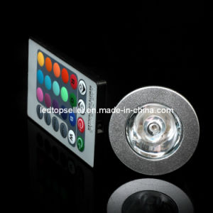 3W E27/GU10/E14/MR16 16 Colors RGB LED Spotlight (SD0043)