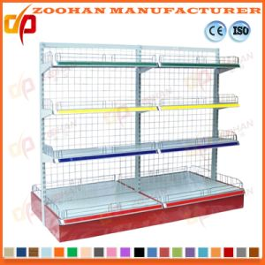 Manufacture Customized Iron Supermarket Convenience Wall Corner Shelf (Zhs599) pictures & photos