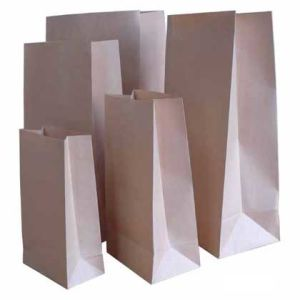 Brown Kraft Paper Grocery Bags Without Handle pictures & photos