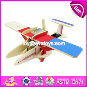 New Design Kids Assemble Puzzle Airplane Wooden Creative Toys W03b069 pictures & photos