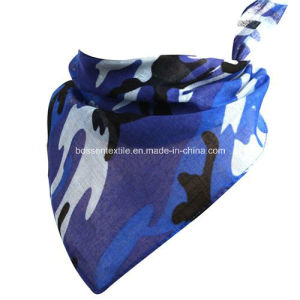 Custom Made Camouflage Printing Cotton Baby Bib Saliva Towel Triangle Bandana pictures & photos