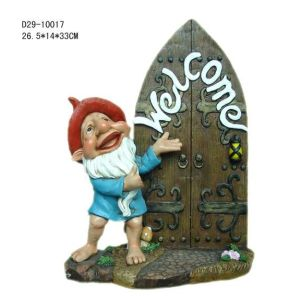 Polyresin Decorative Gnome Figurine (D29-10017)