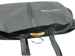 Custom Design New Non-Woven Garment Suit Carrier Bags (MECO242) pictures & photos