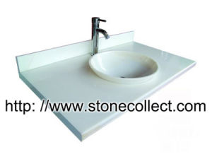Vanity Top in Pure White Marble pictures & photos
