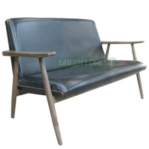Double Leather Solid Wood Contracted Sofa (GF-S001)