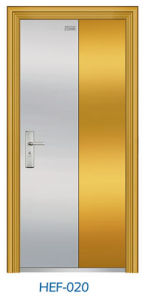 Golden Stainless Steel Door Entrance Door (HEF-020) pictures & photos