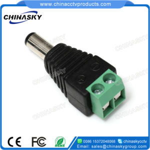 2.1*5.5mm CCTV Male DC Power Connector with Screw Terminal (PC102) pictures & photos