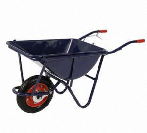 Wheelbarrow with Steel Tray, One Pneumatic Wheel