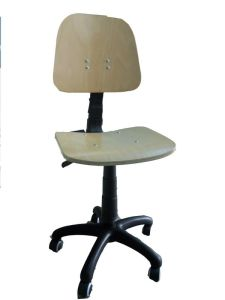 Office Wooden Chair with Airlift and Universal Castors (MXZY-105)