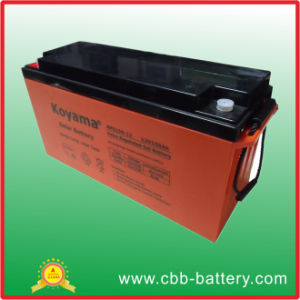 12V150ah Deep Cycle Solar Battery for Solar Power System pictures & photos