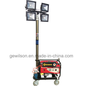 Illuminated Gasoline Mobile Small Light Tower Powered by Honda Generator pictures & photos