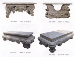 Antique Finish Stone Carving Coffee Table (HS2069, 2070, 2071, 2072) pictures & photos