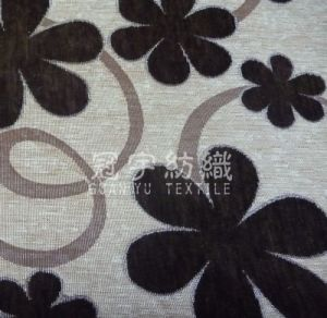 Home Textile Chenille Fabric with Flower Pattern for Sofa pictures & photos