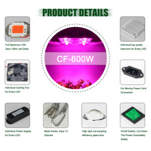 Indoor Grow Lamp 600W Replace 1000W HPS COB LED Grow Light pictures & photos