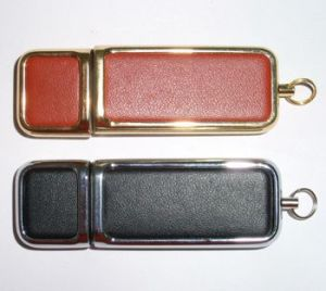 Can Print Your Logo Leather USB Flash Drive