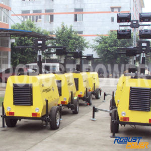 Kubota Soundproof Electronic Controlled Portable Light Tower pictures & photos