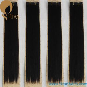 Natural Black Brazilian Remy Human Hair Weft pictures & photos