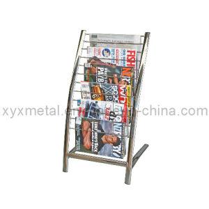 Floor Chrome Metal Newspaper Display Stand Rack pictures & photos