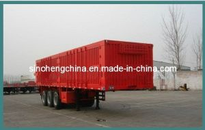13m Box Transport Cargo Semi Trailer with 3 Axles pictures & photos
