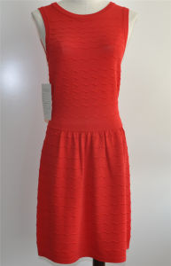 Rayon/Nylon Ladies Round-Neck Knitwear Fashion Dress pictures & photos