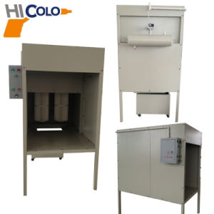 Small Manual Powder Spray Booth 1.5kw pictures & photos