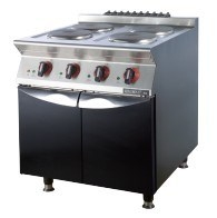 Commercial Four Burner Electric Stove with Cabinet (FEHXA210) pictures & photos