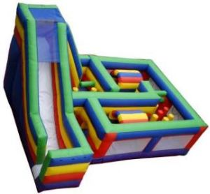 Inflatable Obstacle Course Inflatable Maze with Slide (XZ-OB-007)