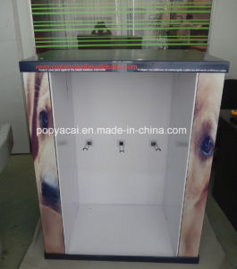 4-Side Customized Cardboard Pallet Display with Metal Hooks for Garments pictures & photos