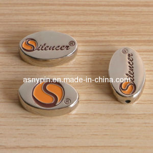 Custom Gold Metal Bead for Bracelets, Enamel Jewelry Logo Tags pictures & photos