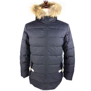 Winter Jacket 100% Polyester with Fur Hood Down Jacket