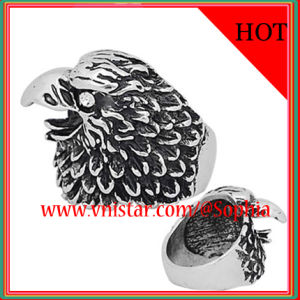 Eagle Shape Antique Silver Plated Rings for Men (R035S)