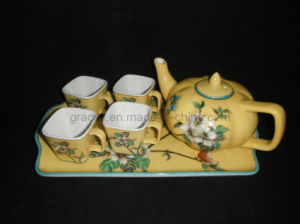 Ceramic Tea Set / Porcelain Pumpkin Tea Pot
